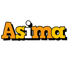 Asima cartoon logo