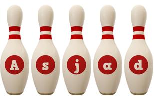 Asjad bowling-pin logo