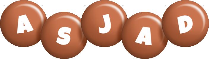 Asjad candy-brown logo