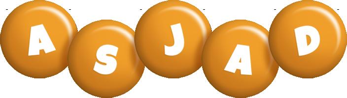 Asjad candy-orange logo