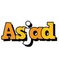 Asjad cartoon logo