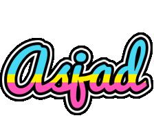 Asjad circus logo