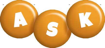 Ask candy-orange logo