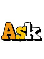 Ask cartoon logo