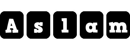 Aslam box logo