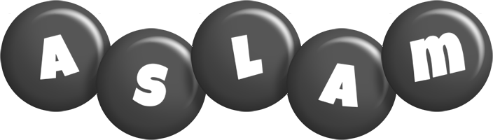 Aslam candy-black logo