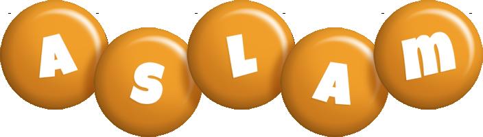 Aslam candy-orange logo