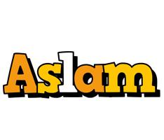 Aslam cartoon logo