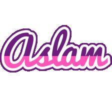 Aslam cheerful logo