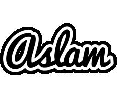 Aslam chess logo