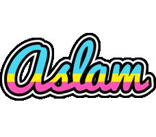 Aslam circus logo