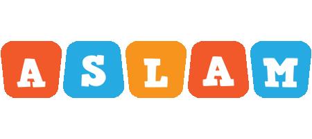 Aslam comics logo