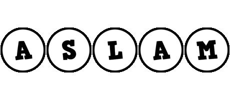 Aslam handy logo