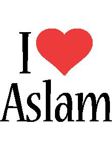 Aslam i-love logo