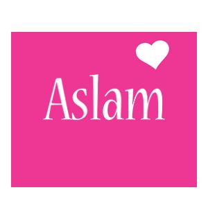 Aslam love-heart logo