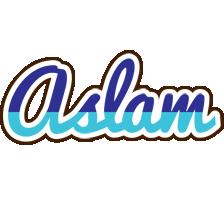 Aslam raining logo