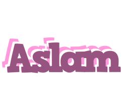 Aslam relaxing logo