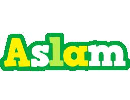 Aslam soccer logo