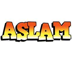 Aslam sunset logo