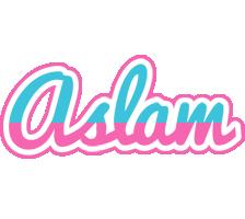 Aslam woman logo