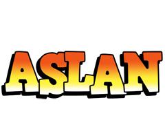 Aslan sunset logo