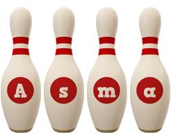 Asma bowling-pin logo