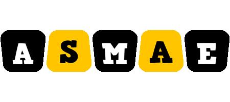 Asmae boots logo