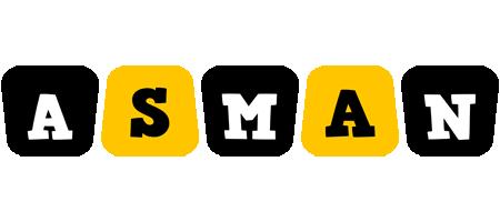 Asman boots logo