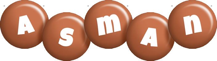 Asman candy-brown logo