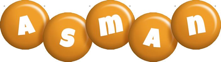 Asman candy-orange logo