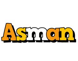 Asman cartoon logo