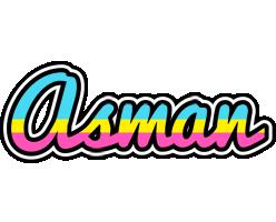 Asman circus logo