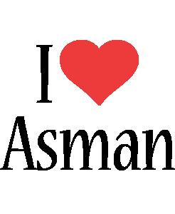 Asman i-love logo