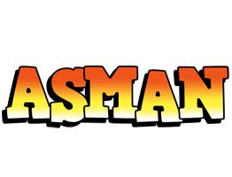 Asman sunset logo
