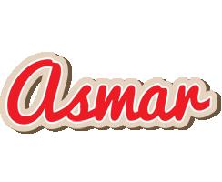 Asmar chocolate logo