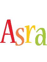 Asra birthday logo