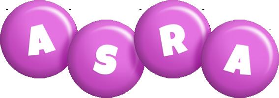Asra candy-purple logo
