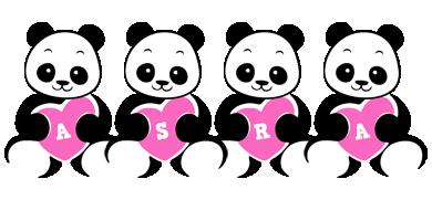Asra love-panda logo