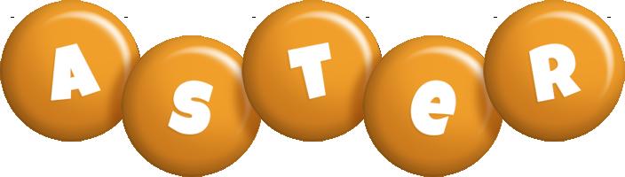 Aster candy-orange logo