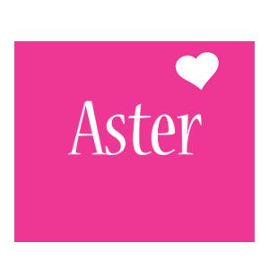 Aster love-heart logo