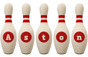 Aston bowling-pin logo