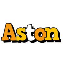 Aston cartoon logo