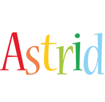 Astrid birthday logo