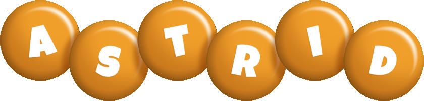 Astrid candy-orange logo