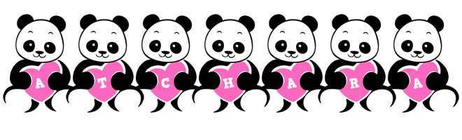 Atchara love-panda logo