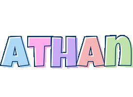 Athan pastel logo
