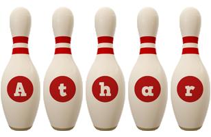 Athar bowling-pin logo