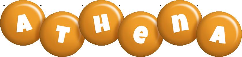 Athena candy-orange logo