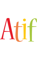 Atif birthday logo
