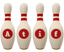 Atif bowling-pin logo